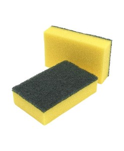 3M Contract Sponge Scourer 158x95MM Pack of 10 1