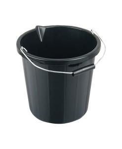 Builders Bucket Heavy Duty Black 14