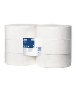 Tork Jumbo Toilet Roll 360M White 2Ply Case of 6 1