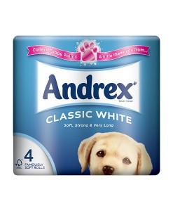 4480 Andrex Bathroom Tissue 240 Sheets White Case of 40 1