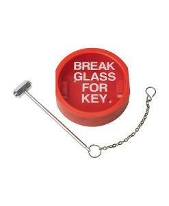 Break Glass Key Box c/w Hammer & Chain 1