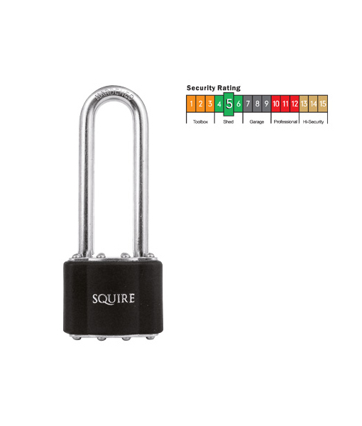 squire laminated long shackle padlock dcs store clean build