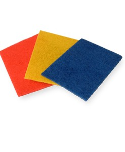 Hand Scouring Pad Yellow 230x150MM Pack of 10 1