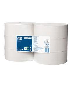 Tork Jumbo Toilet Roll 700M White 1Ply Case of 6 1