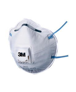 3M 8822 Cup Shaped Valved Dust / Mist Respirator Pack of 10 1