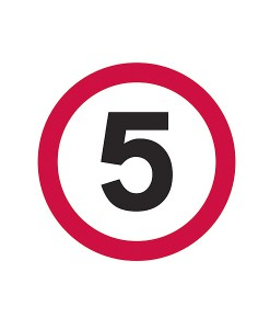 5MPH Temporary Road Sign Plate 1