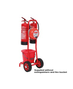 Double Extinguisher Mobile Fire Point complete with Bell 1