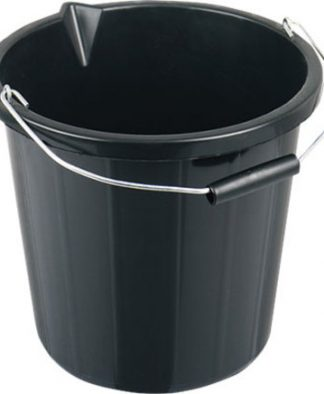 Builders Bucket Heavy Duty - Black