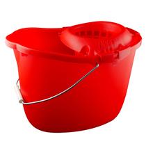 CleanWorks Plastic Mop Bucket Red
