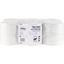 Pristine Mini Jumbo Toilet Toilet Tissue Roll 76mm Core