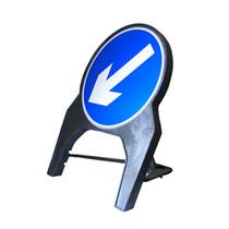 Q Sign Dia 610 Keep Left Arrow