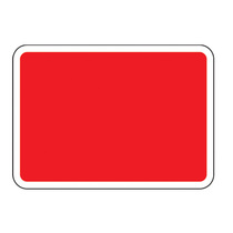 Blank Vinyl Road Sign Plate