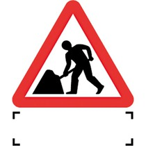 Quazar Road Works with Supp Provision Dia 7001 Sign