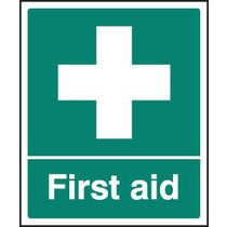First Aid Safety Sign- Rigid Plastic