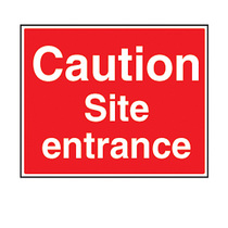 Caution Site Entrance Safety Sign