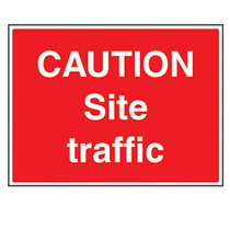 Caution Site Traffic Safety Sign