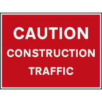 Caution Construction Traffic Non Reflective Site Traffic Sign