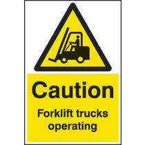 Caution Forklift Trucks Durable Floor Graphic