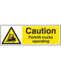 Caution Fork-Lift Truck Operating Safety Sign