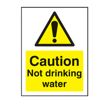 Caution Not Drinking Water Safety Sign