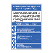 Personal Protection at Work Regulations Safety Sign