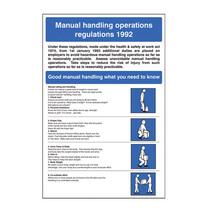 Manual Handling Regulations Safety Sign