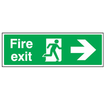 Fire Exit Right Pointing Arrow Safety Sign