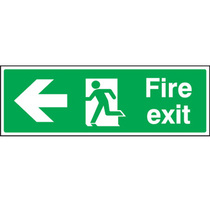 Fire Exit Left Pointing Arrow Safety Sign