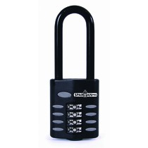 SpartanPro Long Open Shackle Combination Padlock