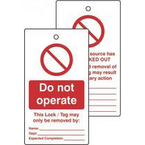 Lockout Tags - Do Not Operate