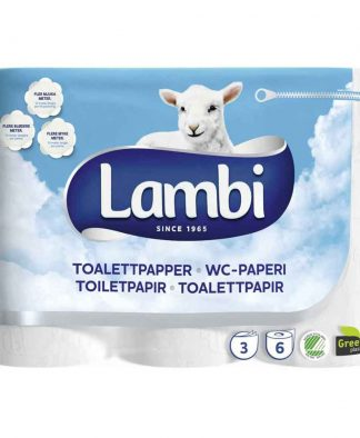 Lambi Luxury Toilet Roll 3Ply Embossed 170 Sheet (CS 24)