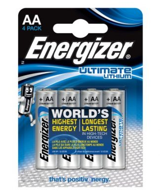 Battery Energizer Lithium Type AA (PK 4)