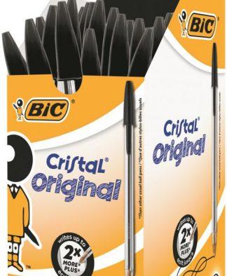 Bic Cristal Ballpoint Pen Medium Black (Pack of 50)