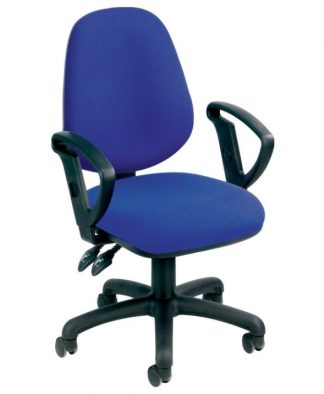 Deluxe High Back Operator Chair - Blue