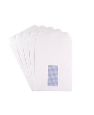 C5 90G Env White S/Seal Window Pockt pack 500
