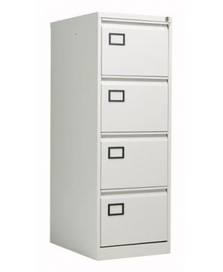 Bisley 4 Draw Metal Filing Cabinet Grey