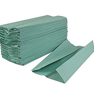 2Work Green 1-Ply C-Fold Hand Towel (Pack of 2880)
