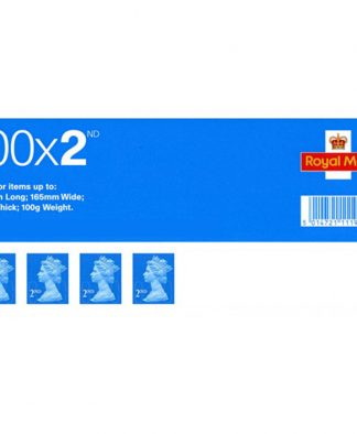 Second Class Postage Stamps (Pack of 100)
