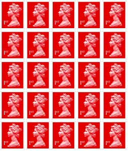 25 X 1st Class Stamps