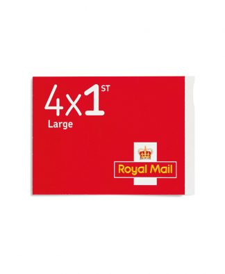 4 X 1st Class Large Stamps