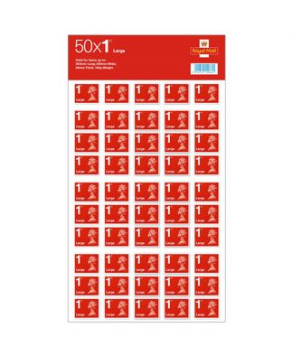 50 X 1st Class Large Stamps
