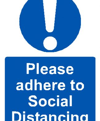 Self Adhesive A4 - Adhere to Social Distancing