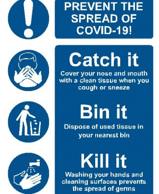 Self Adhesive A4 - COVID19 Catch it, Bin it, Kill It