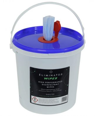 ELIMINATOR HIGH PERFORMANCE DISINFECTANT WIPES - BUCKET OF 1000